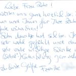 Moritz litt unter einer Lese- und Rechtschreibstörung, bei der die phonologische Bewusstheit angegriffen ist. Er konnte sich also nicht auf das Sprachgefühl verlassen und musste die deutsche Schriftsprache in kleinsten Schritten erlernen. Die LRS Therapie, die sprachwissenschaftliche Grundlagen als Hilfe nutzt, führte hier zum Ziel.